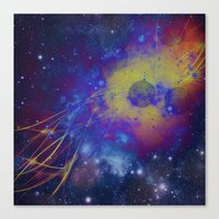 pocket fuel Canvas Prints featuring Fuel Trails by AbstractAnomaly