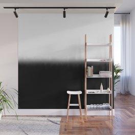 Black White Split Fade Wall Mural