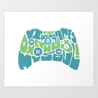 video games Art Prints featuring Video Games by gajuscd