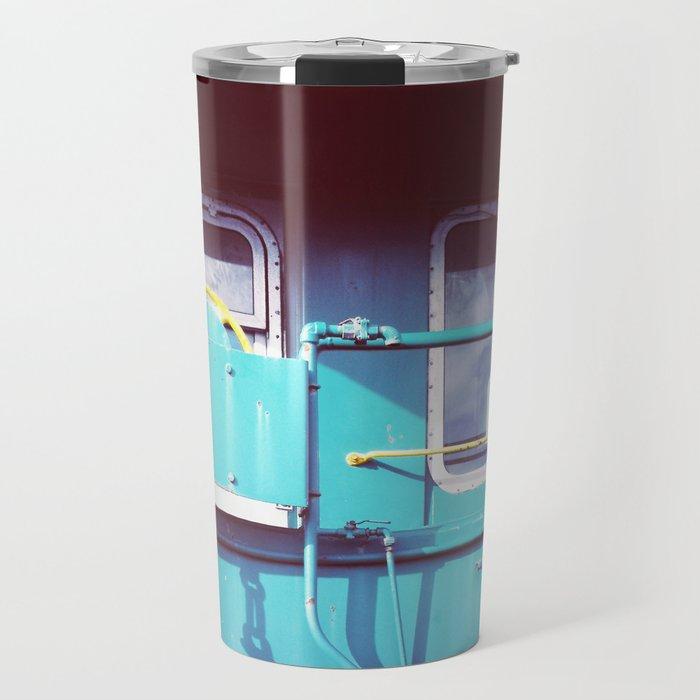 Locomotive in Turquoise Travel Mug