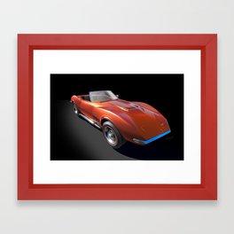 Orange Crush Classic Sports Car Framed Art Print