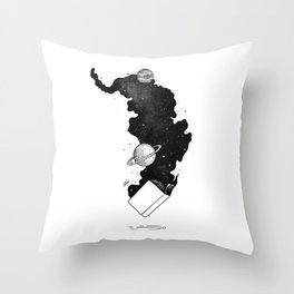 The magic of knowledge. Throw Pillow