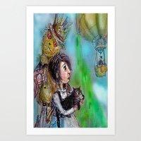 oz Art Prints featuring  oz by AliluLera