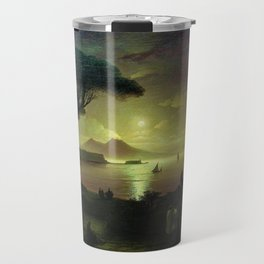 Moonlit Night over the Bay of Naples by Ivan Aivazovsky Travel Mug