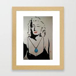 silhouette art Framed Art Print