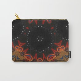 Vision // Geometric Abstract Fire Night Sky Star Vibrant Tribal Rustic Bohemian Boho Gypsy Shaman Carry-All Pouch