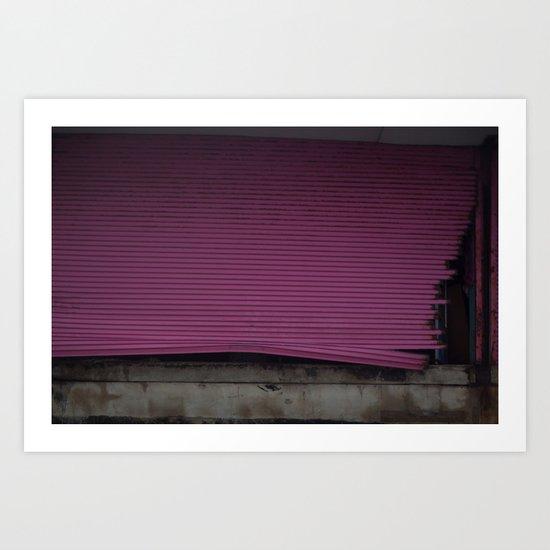 Pink Gate, After Sandy Art Print