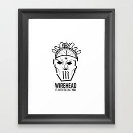 Wirehead Framed Art Print