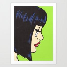 Mod Crying Comic Girl Art Print