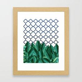 Leaves & Tiles #society6 #decor #buyart Framed Art Print