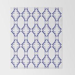 Modern Antler:  Blue Throw Blanket
