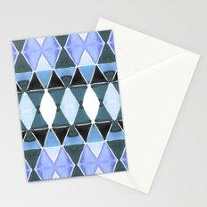 Art Deco Triangles Light Blue Stationery Cards
