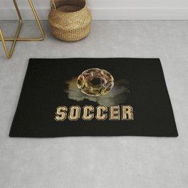 Golden Soccer Ball Rug