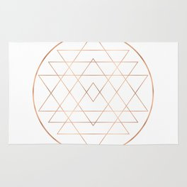 Dream All, All Dream - Rose Gold Copper Rug