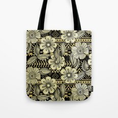 Floral Ink Tote Bag