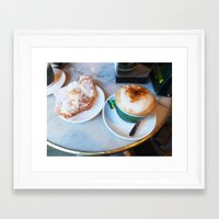 cafe Framed Art Prints featuring Cafe by Lilliana Goti