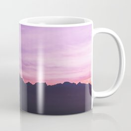 Winter Sunset with Mountains - Landscape Photography Coffee Mug