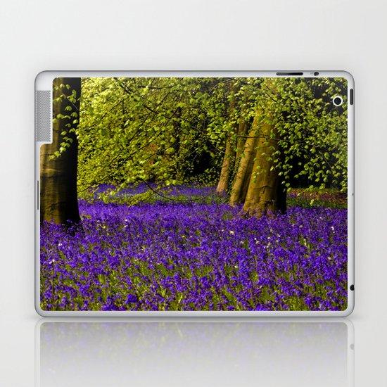 A Walk in Bluebell Wood Laptop & iPad Skin