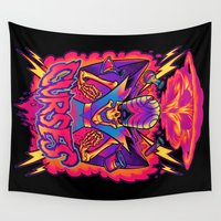 jojo Wall Tapestries featuring MOJO JOJO: CURSES by BeastWreck