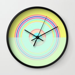 more turquoise and yellow Wall Clock