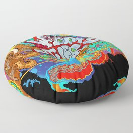 Other Worlds: The Game Logo Design Floor Pillow