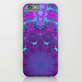 Pink, Purple, and Blue Kaleidoscope iPhone Case