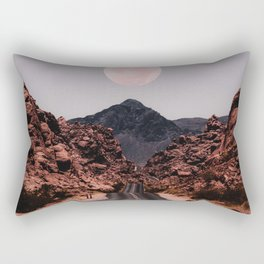 Road Red Moon Rectangular Pillow