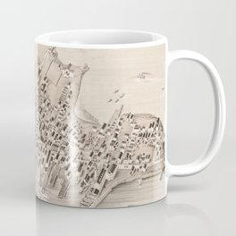 Vintage Pictorial Map of Stonington CT (1879) Coffee Mug