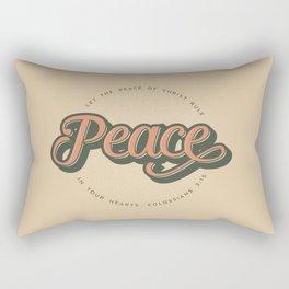 """""""PEACE"""" Bible Verse Print Rectangular Pillow"""