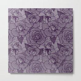 Aubergine Roses 2 Metal Print