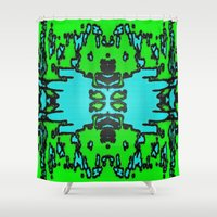 infinite Shower Curtains featuring Infinite by Phinilez