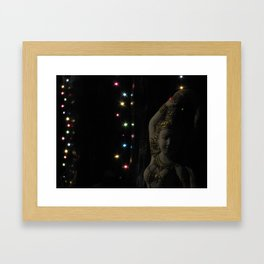 The Light shines in all different colors Framed Art Print