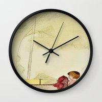 child Wall Clocks featuring Child by Dukewow Nukemwow