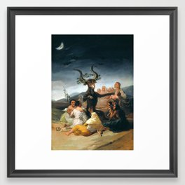 The Sabbath of Witches Goya Painting Framed Art Print