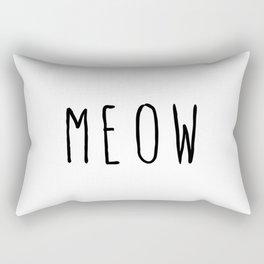 M E O W Rectangular Pillow