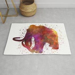 Mammoth dinosaur in watercolor Rug