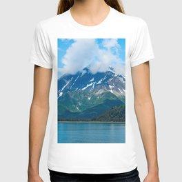 Alaska USA Kenai Fjords Nature mountain Lake Parks Clouds Mountains park T-shirt