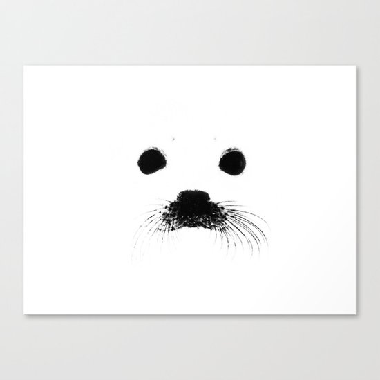 Seal your face Canvas Print