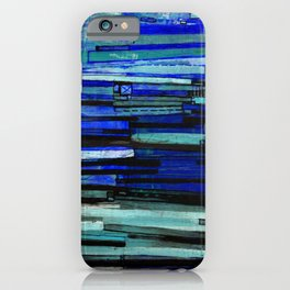 Stripe Layers in Indigo iPhone Case