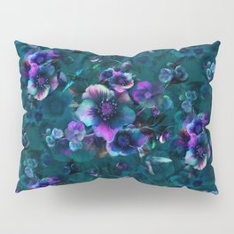 Moody Florals petrol by Odette Lager Pillow Sham