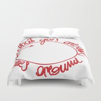 karma Duvet Covers featuring karma by Valentina Fracchia