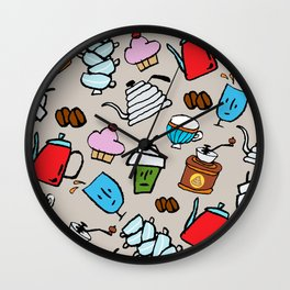 Coffeeholic Wall Clock