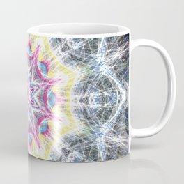 Pink and Yellow Mandala Swirl Coffee Mug
