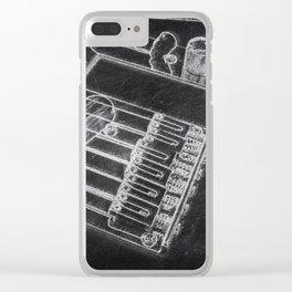 Telecaster bridge Clear iPhone Case