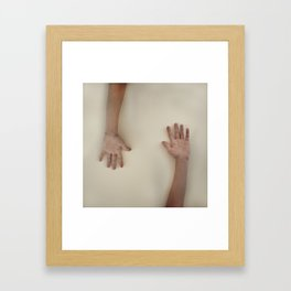 Blank Pages Framed Art Print
