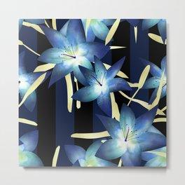 Dark blue lilies 2 Metal Print
