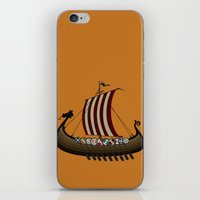 vikings iPhone & iPod Skins featuring Vikings by mangulica