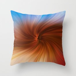 Abstract image composed of colored lines that create spirals, digital art Throw Pillow