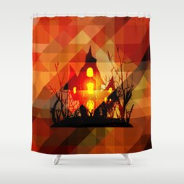 Hallow's light Shower Curtain