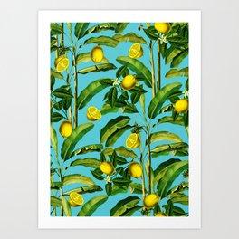 Lemon and Leaf II Art Print